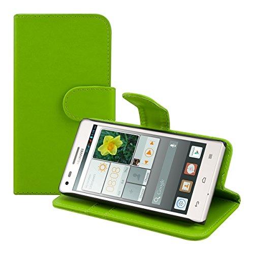 kwmobile Huawei Ascend G6 (3G) Hülle - Kunstleder Wallet Case für Huawei Ascend G6 (3G) mit Kartenfächern und Stand