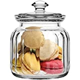 Pasabahce Glass jar with Glass Lid | Airtight Glass jar |500Ml|Made in Turkey|