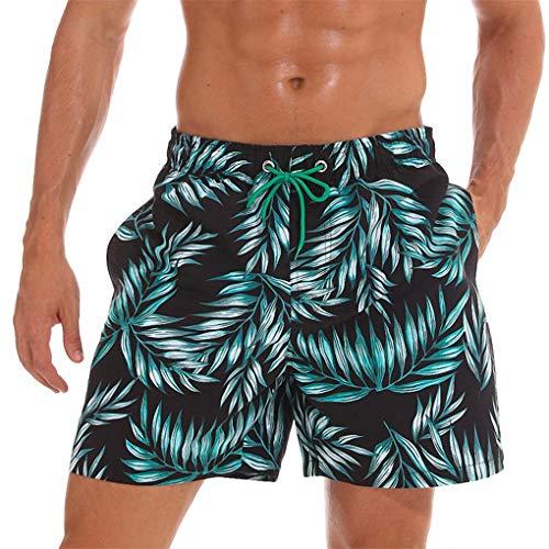 Zhuomeisi Schnell trocknend Sommer Herren Siwmwear Herren Strand Board Shorts Slips für Männer Badehose Badeshorts Beach Wear Bamboo XL -
