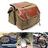 GOZAR Motorrad-Leinwand Saddlebags Equine Back Pack Für Haley Sportster/Honda