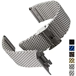 Geckota® Stainless Steel Watch Strap Milanese Mesh