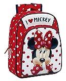 Minnie Mouse Schulrucksack, 34 cm, Mehrfarbig (Rojo Y Blanco)