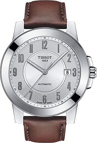 Orologio Tissot Uomo T098.407.16.032.00 Automatico Acciaio Quandrante Argento Cinturino Pelle