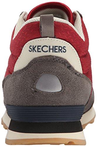 Skechers Og 85, Baskets Basses Homme Charcoal/Red