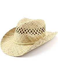 1f05fe2f4ac7c Hawkins Straw cowboy hat natural with cord neck string