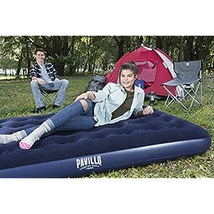 Bestway 67002 - Colchon flocado de camping doble, 191 x 137 x 22 cm