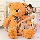 Toyhub 3 Feet Huggable Teddy Bear With Neck Bow (91 Cm,Brown)