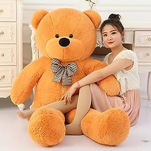 GURUDEV Toyhub 3 Feet Huggable Teddy Bear with Neck Bow (91 cm,Brown)