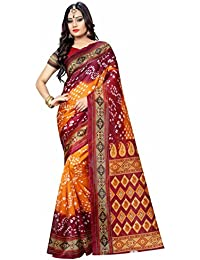 Muskaan Sarees Women's Cotton Silk Saree With Blouse Piece (FAI 66_Multicolor)