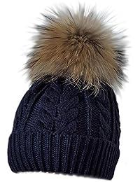 5199774c1bcd54 MERRYLAND Mütze XXL Echtfellbommel Pudelmütze Bommelmütze ECHTFELL Hat Real  Fur Handmade Fellbommel Echt Fell Bommel…