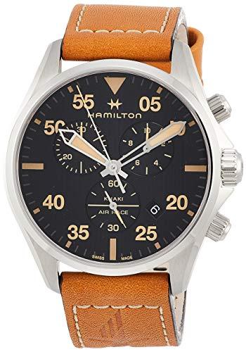 Hamilton Reloj de Hombre Cuarzo 44mm Correa de Cuero Caja de Acero H76722531