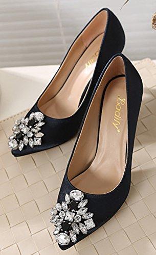 Sexy Raso Nere Scarpe Low Caviglia Donna Aisun HEFTq17xq