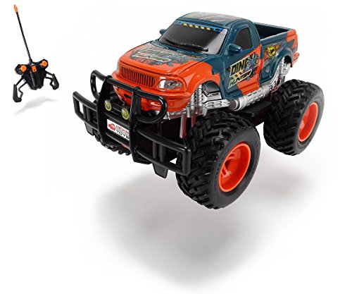 Preisvergleich Produktbild Dickie Toys 201119077 - RC Dino Hunter, funkferngesteuerter Monstertruck Inklusive Batterien, 19 cm