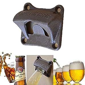 SwirlColor Cast Iron Wall Mounted Bar Club Wine Beer Soda Cap Glass Bottle Opener attrezzo aperto