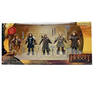 "The Bridge Direct Hobbit Hero Pack - Bilbo, Thorin, Dwalin, Kili and Fili 3.75"" Figure Box Set by The Bridge Direct TOY (English Manual)"