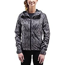 Chaqueta impermeable para mujer Merrell para mujer, chaqueta, mujer, color Negro - negro con impresión, tamaño XS