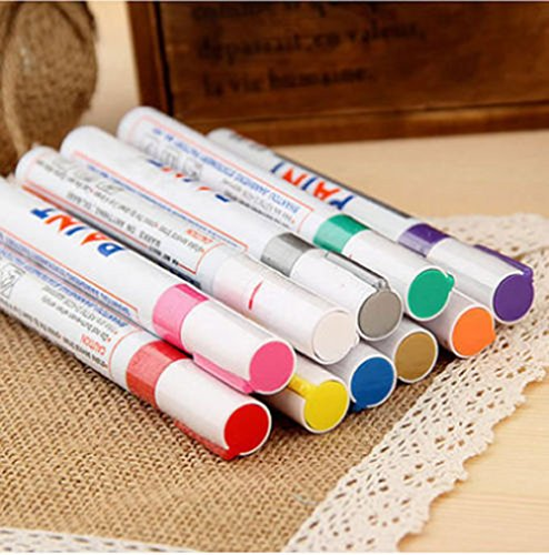 rzctukltd-12-colors-sets-fine-paint-oil-based-art-marker-pen-metal-glass-waterproof