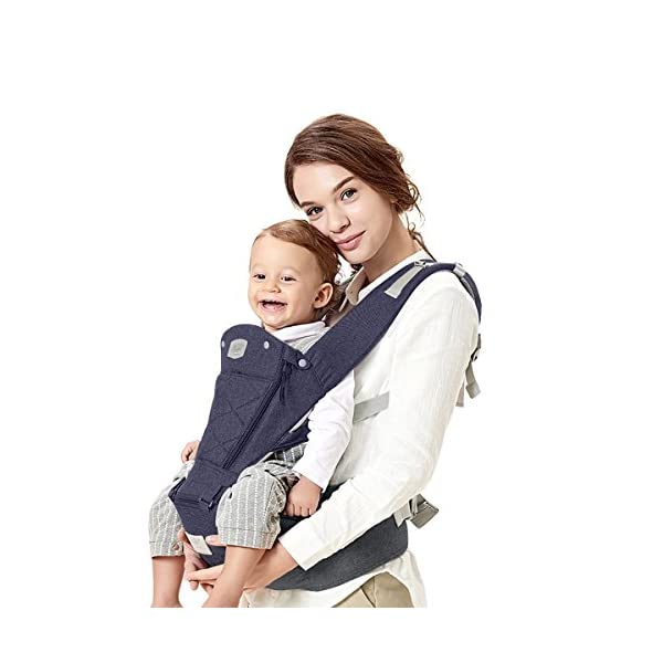 SONARIN 3 in 1 Breathable Hipseat Baby Carrier,Front Opening Design,Sun Protection,Multifunction,Adapted to Your Child's Growing, 100% Guarantee and Free DELIVERY,Ideal Gift(Blue) SONARIN Applicable age and Weight:0-36 months of baby, the maximum load: 25KG, and adjustable the waist size can be up to 47.2 inches (about 120 cm). Material:designers carefully selected soft and delicate Cationic twill cloth. Resistant to wash, do not fade, ensure the comfort and wear resistance, Inner pad: EPP Foam,high strength,safe and no deformation,to the baby comfortable and safe experience. Description:patented design of the auxiliary spine micro-C structure and leg opening design, natural M-type sitting.Widened shoulder strap, Widened seat surface, thickened cushion, let the baby and mother enjoy the joy. H-type bridge belt, effectively fixed shoulder strap position, to prevent shoulder straps fall, large buckle, intimate design, make your baby more secure. 4