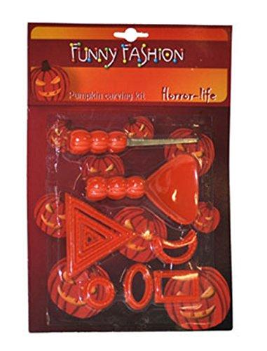 Schnitz Set- Halloween Werkzeug Vorbereitungs Kit, Messer Bohrer Formen, Orange (Halloween-kürbis-schnitz-einfach)