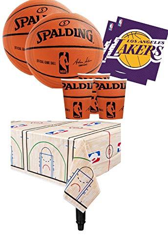 Am-scan kit n.16 accessori festa spalding basket nba party varie squadre (la lakers)