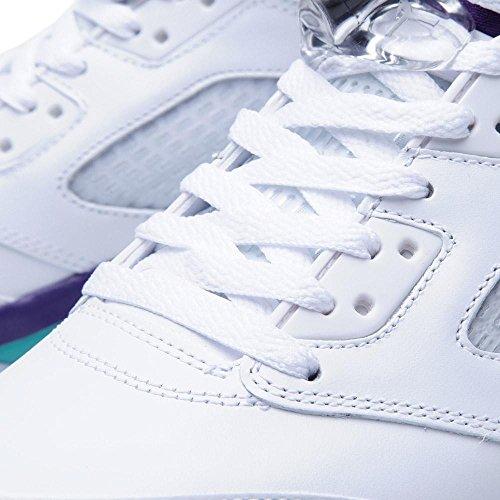 NIKE JORDAN 5 RETRO white, new emerald-grp ice-blk