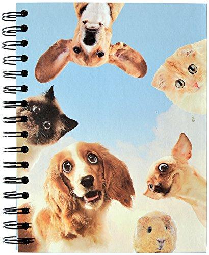 'skriptum: Cuaderno de espiral Wire de O–Libreta (A5, 100páginas, cuadriculado, diseño animales