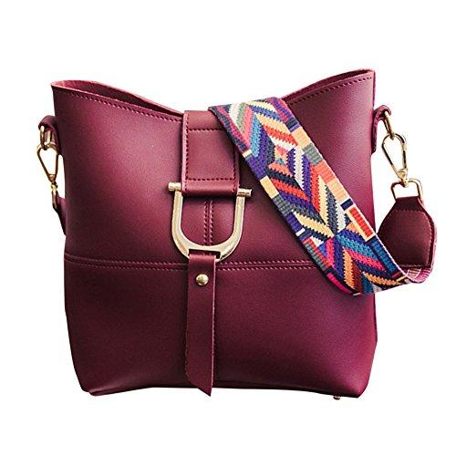 Dellunità di elaborazione della borsa del cuoio Shoulder Bag + Purse 2pcs Bag Grigio Bodeaux