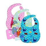 #5: Baby Grow Waterproof Baby Bibs Boys Girls 3 Piece Pack