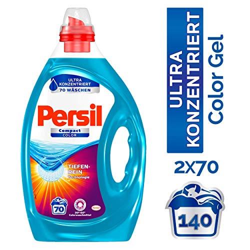 Persil Compact Color Gel, Flüssigwaschmittel, Ultra Konzentriert, 140 (2x70) Waschladungen