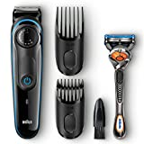 Braun BT3040 Beard / Hair Trimmer for Men with Free Gillette Fusion ProGlide Manual Razor