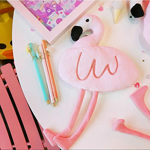 Flamingo Mäppchen Federmäppchen Reißverschluss Federmäppchen Pen Stationäre Bag Kosmetik Make-up Bag Cartoon Kosmetiktasche für Schule,Geschenk für Kinder(Rosa)-Formemory