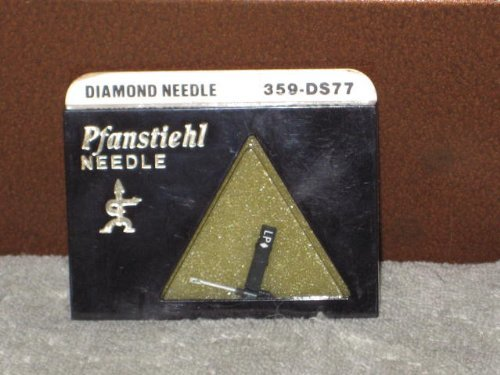 Pfanstiehl 359-DS77 Diamond Phonograph Record Player Needle N314SD, E15XSD, 606SD, E31073DS, 832DS, AC329D1, Electro Voice 2619DS; fits Electro Voice 132, 132D, 163, 163D by Pfanstiehl
