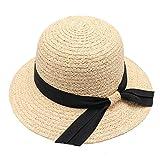 2018 verano nueva señora Lafite hierba pescador sombrero versión coreana del arco debajo de la torre sombrero,Color verdadero,Spot