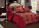 Sandra Wine Rot Tagesdecke geprägten Bettüberwurf
