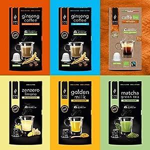 King Cup, Sconto MultiBox in Capsule Compatibili Nespresso X2 Caffè al Ginseng , X1 Matcha Green Tea , X1 Golden Milk…