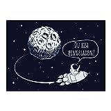 16 Einladungskarten Kindergeburtstag - Rakete im Weltall - für kleine Astronauten / Geburtstagseinladungen im Set