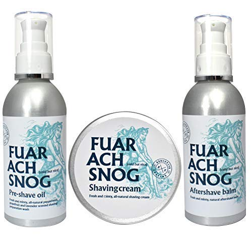 The Executive Shaving Company Fuar Ach Snog Minty Crème de Rasage, Baume Après-rasage et Prérasage Huile