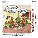 Krebs Mini 2020: Sternzeichenkalender-Cartoon - Minikalender im praktischen quadratischen Format 10 x 10 cm.