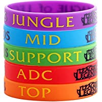 PULSERAS LEAGUE OF LEGENDS PACK 5 TOP MID JUNGLE ADC SUPPORT LOL