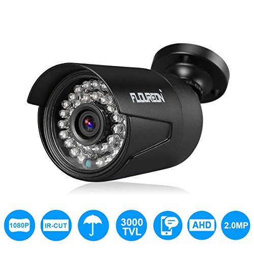 FLOUREON 1080P AHD cámara de Seguridad 2.0MP 3000TVL Impermeable al Aire Libre CCTV DVR Bullet cámara IR-Cut visión Nocturna para AHD DVR