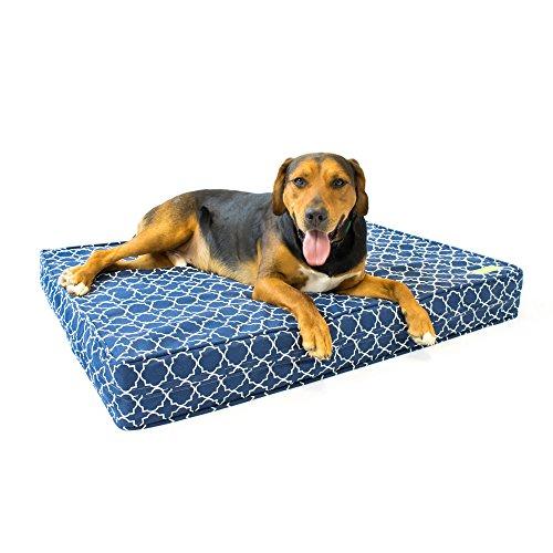 Kunststoff-matratze-protector (Orthopädisches Hundebett 13 cm dicht mit Gel-Gedächtnisschaum und 100% baumwoller abnehbarer Hülle, waschbar)