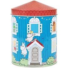 Moomin House - Barattolo in metallo con coperchio, 13,5 x 19 x 13,5 cm