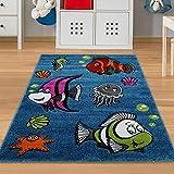 Kinderteppich Fische & Meerestiere Größe 80 x 150 cm