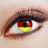 Karneval-Klamotten Fußball Klamotten Jahreslinsen WM Deutschland Fan-Artikel Farblinsen Farbige Kontaktlinsen schwarz r