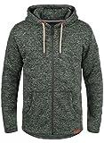 SOLID Leki Herren Übergangsjacke Fleece-Jacke mit Kapuze aus kuschelweicher und hochwertiger Materialqualität Meliert, Größe:L, Farbe:Climb Ivy Melange (8785)