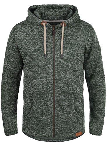 SOLID Leki Herren Übergangsjacke Fleece-Jacke mit Kapuze aus kuschelweicher und hochwertiger Materialqualität Meliert, Größe:XXL, Farbe:Climb Ivy Melange (8785) (Jacke Hoody Fleece Zip)
