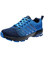 3fb8141ae66f7 Zapatillas Deporte Hombre Zapatos para Correr Athletic Cordones Air Cushion  3cm Running Sports Sneakers 36-