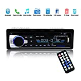 Bluetooth Autoradio,SUAVER Single-Din Auto Audio Stereo FM Radio, Auto MP3 Player USB/SD/AUX/Freisprecheinrichtung mit Fernbedienung,Digitaler Medienempfänger (JSD-520)