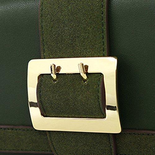 Heheja Frauen Stilvolle Umhängetasche Tasche Einfach Kleine Quadratische Paket Grün