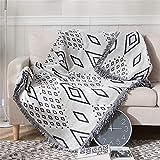 Yyjn Galaxy Cotone Modello sofà della Coperta del tiro Multi-Function del tiro Decorativo Coperta del sofà Asciugamano Caldo Fodera Thick Poltrona Copertura soffice coltre,Bianca,130 * 180cm